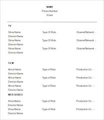 Theatre Resume Template Beauteous Theatre Resume Example Lovely Theater Resume Template New Acting
