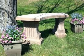 cement garden bench concrete coliseum w curved seat outdoor benches cement garden bench
