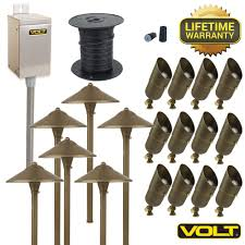 brass led landscape lighting kits golden colored round shape spin able head featuring high quality cast malibu outdoor