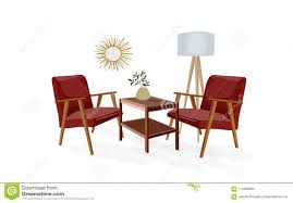 trendy home furniture. Vector Interior Design Illustration. Living Room Furniture. Trendy Trend Home Decor. Furniture