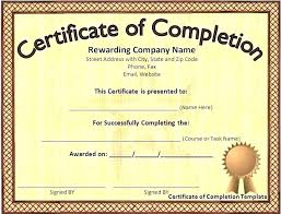 Free Downloadable Certificates Blank Certificate Of Completion Templates Free Free Blank