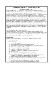 Medical Office Assistant Job Description For Resume Ideas Of Resume Administrative assistant Job Description Unique 90