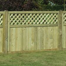 tongue groove lattice top fence panel