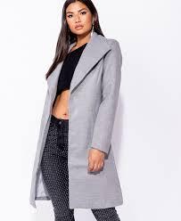 Light Blue Duster Coat Longline Duster Coat In Light Grey