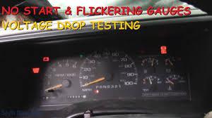 Chevy Silverado Security Light Chevy Truck No Start Flickering Lights Gauges Voltage Drop Testing