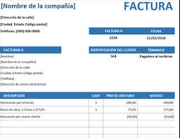 Formatos De Factura Facturas Office Com