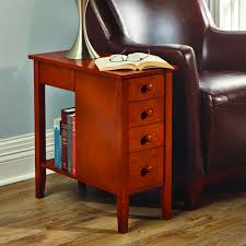 end table. The Tight Space Storage End Table
