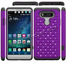 lg flip phone purple. luxury diamond bling hybrid dual layer protective phone cover case for lg v20 - purple\u0026black lg flip purple