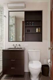 Modern Bathroom With Recessed Medicine Cabinet Cabinets Installing