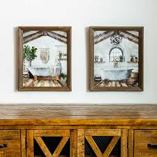 Find furniture & decor you love at hayneedle, where you can buy online while you explore our room designs and curated looks for tips, ideas & inspiration to help you along the way. Farmhouse Bathroom Framed Art Prints Set Of 2 Kirklands