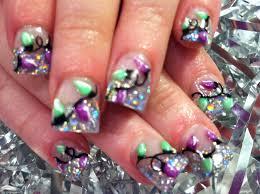 best nail design: CHRISTMAS LIGHTS NAIL ART