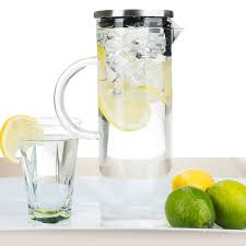 elegant chill glass pitcher