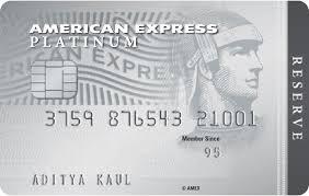 american express platinum reservesm credit card