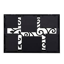 adeco 6 opening decorative black filigree wall hanging picture frame made to display three 4x6