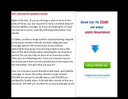 Insurance Quotes Texas Awesome Car Insurance Quotes Texas