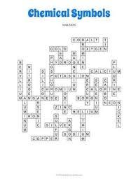 Chemical Symbols Crossword Puzzle Crossword Puzzle