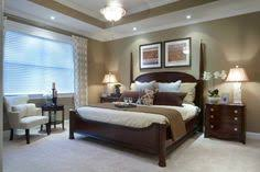 Great Master Bedroom: Wall Color (with White Molding); Dark Wood Furniture;