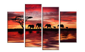 red canvas wall art adorable elephants sunset canvas wall art colorful purple combination tree good looking fused contemporary design on sunset wall art canvas with wall art designs red canvas wall art adorable elephants sunset