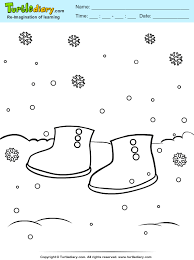 Small Picture Winter Boots Coloring Sheet Turtle Diary