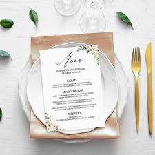 Party Menu Template Best Menu Templates Products On Wanelo