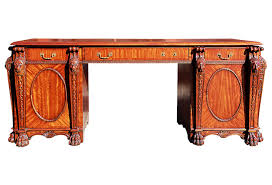 maitland smith lion head kneehole desk