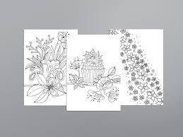 Ansichtkaarten Om Te Kleuren Set 6 A5 Bloemen 2 Kleur En Miks