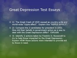 the stock market crash and the great depression ch ppt  22 great depression test essays