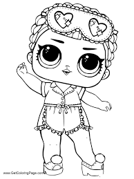 Lol Surprise Doll Coloring Pages Pictures Free For Girls Get