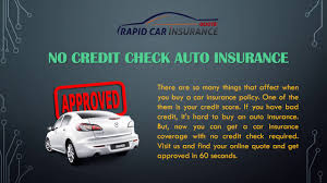 get no credit check car insurance with experts help