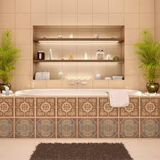 Decorative Kitchen Backsplash Decorative Tiles Stickers Lisboa Set Of 4 Tiles Tile Decals