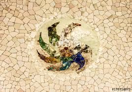 broken glass mosaic tile barcelona spain