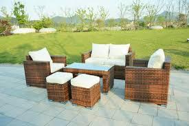 wicker patio furniture sets. Ensenada Sunbrella 6 Piece Outdoor Wicker Patio Furniture Sectional  Sofa Set Wicker Patio Furniture Sets T