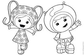 Small Picture Milli and Geo say Hi in Team Umizoomi Coloring Page Color Luna