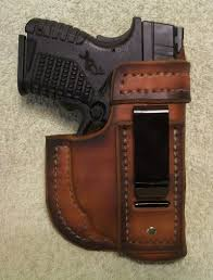 leather iwb springfield xds with crimson trace laserguard 469