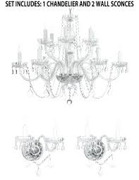 chandelier and sconce set three piece lighting set crystal chandelier x and 2 wall sconces 2