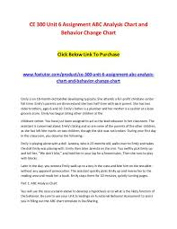 Behavior Change Chart Ce 300 Unit 6 Assignment Abc Analysis Chart And Behavior