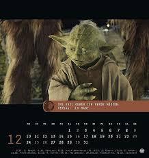 Star Wars Meister Yoda Postkartenkalender 2018 Kalender Bestellen
