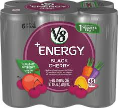 v8 v fusion black cherry 6 cans