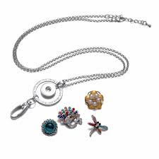 working card lanyard pendant necklace 18mm snap on jewelry fits diy snap jewelry for employee id