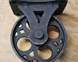 industrial furniture wheels. ON SALE - Set Of 4 Solid Iron Rustic Black Vintage Style Industrial Furniture Caster Wheels B