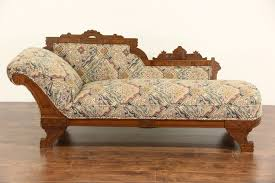 victorian chaise lounge. Victorian Eastlake 1880 Antique Chaise Lounge Or Fainting Couch, New Upholstery