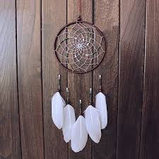 Beautiful Dream Catcher Images Cool Beautiful Dream Catcher Hand Woven Dreamcatcher With White Feathers