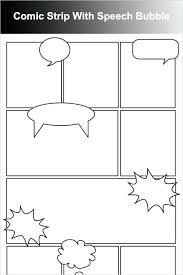 Word Bubble Templates Comic Strips Template Woodnartstudio Co