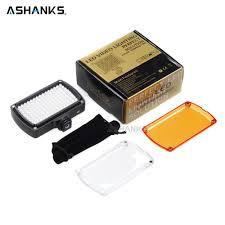 Ashanks Led Video Licht Op Camera Foto Verlichting Bollen Hotshoe