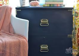 File Cabinet Paint A Campaign Dresser Inspired Filing Cabinet Makeover Win The