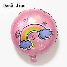 happy birthday pink and green detail feedback questions about new 18inch rainbow cloud balloons