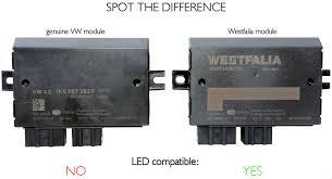volkswagen amarok tow bar module and 7 pin wiring kit led vw oem genuine