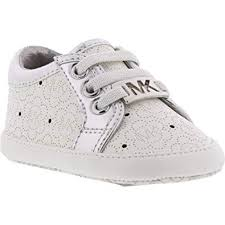 Amazon Com Michael Kors Baby Alison Baby White Sneakers