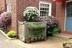 hide outdoor trash cans hiding ideas outside