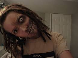 puts on wrong makeup turns zombie